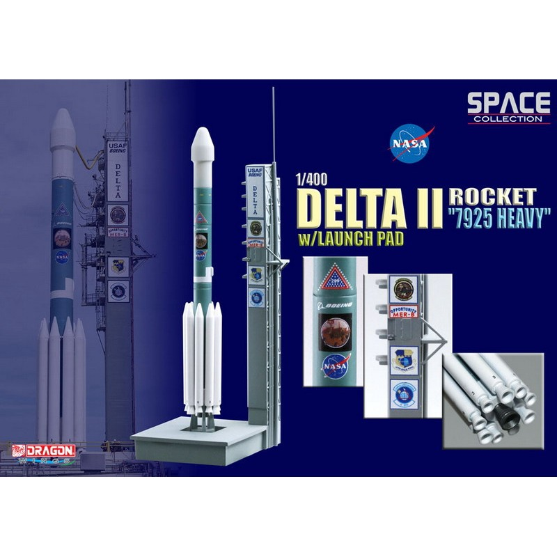 1/400 DELTA II ROCKET '7925 HEAVY' w/ LAUNCH PAD ΔΙΑΦΟΡΑ ΜΟΝΤΕΛΑ