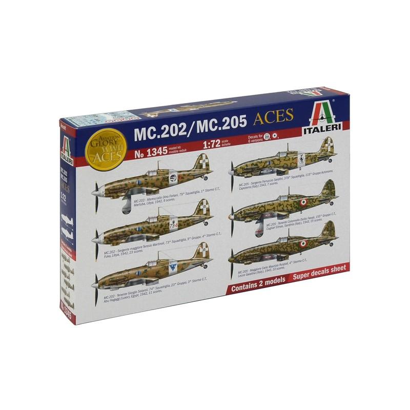 1/72 MC.202/MC.205 ITALIAN ACES (2 MODELS) ΠΛΑΣΤΙΚΑ ΚΙΤ ΑΕΡΟΠΛΑΝΩΝ 1/72