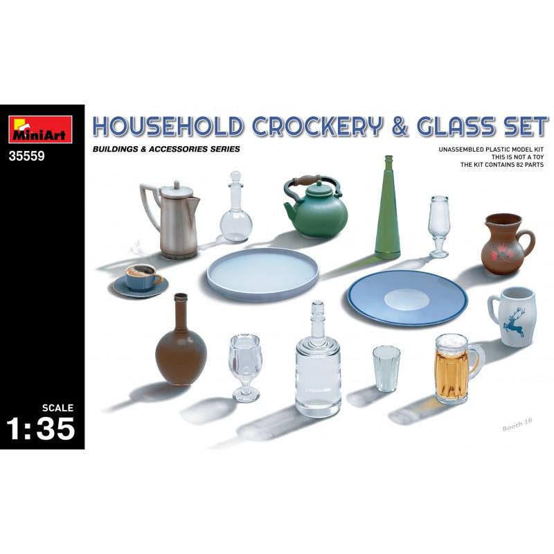 1/35 HOUSEHOLD CROCKERY & GLASS SET ΑΞΕΣΟΥΑΡ ΔΙΟΡΑΜΑΤΩΝ 1/35