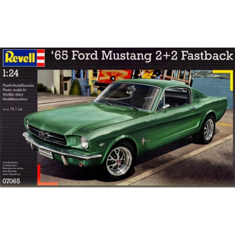 1/24 '65 FORD MUSTANG 2+2 FASTBACK ΠΛΑΣΤΙΚΑ KITS ΑΥΤΟΚΙΝΗΤΑ 1/24