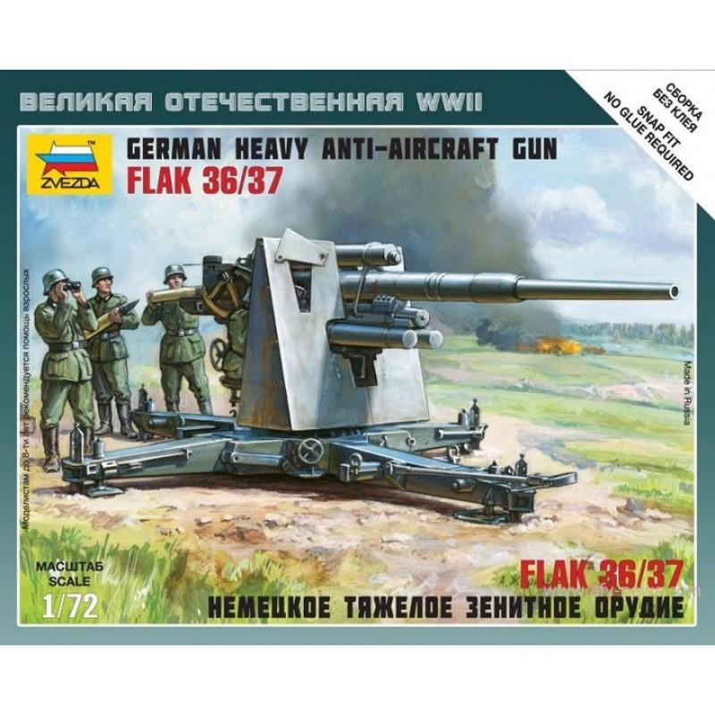 1/72 GERMAN HEAVY ANTI-AIRCRAFT GUN FLAK 36/37 ΦΙΓΟΥΡΕΣ  1/72
