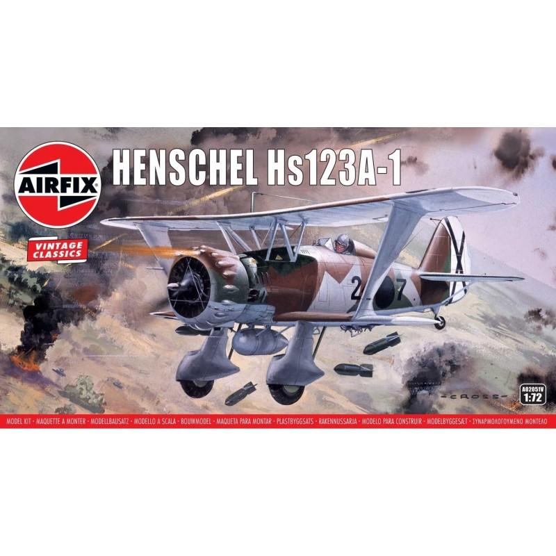 1/72 HENSCHEL Hs123A-1 ΑΕΡΟΠΛΑΝΑ