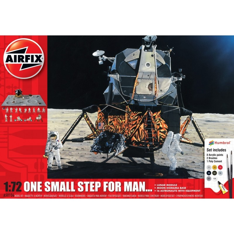 1/72 ONE SMALL STEP FOR MAN [(Lunar Model, Moon Diorama Base & 16 Astronauts with Equipment) (incl. 8 paints, 2 paint brushes, 1 poly cement)] ΔΙΑΣΤΗΜΙΚΑ KITS