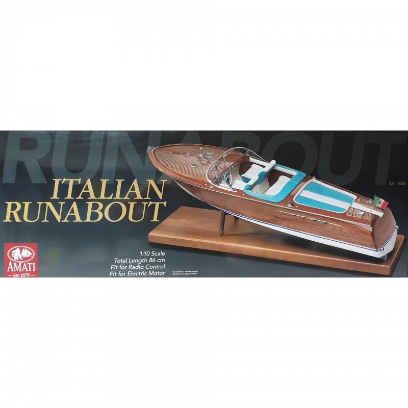 1/10 ITALIAN RUNABAOUT Tipo Riva Aquarama 1970 (Length 860mm) ΞΥΛΙΝΑ ΠΛΟΙΑ