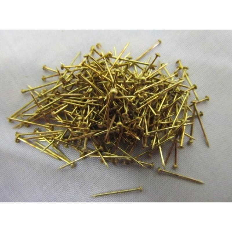 BRASS NAILS 15mm (250pcs) ΞΥΛΙΝΑ ΠΛΟΙΑ