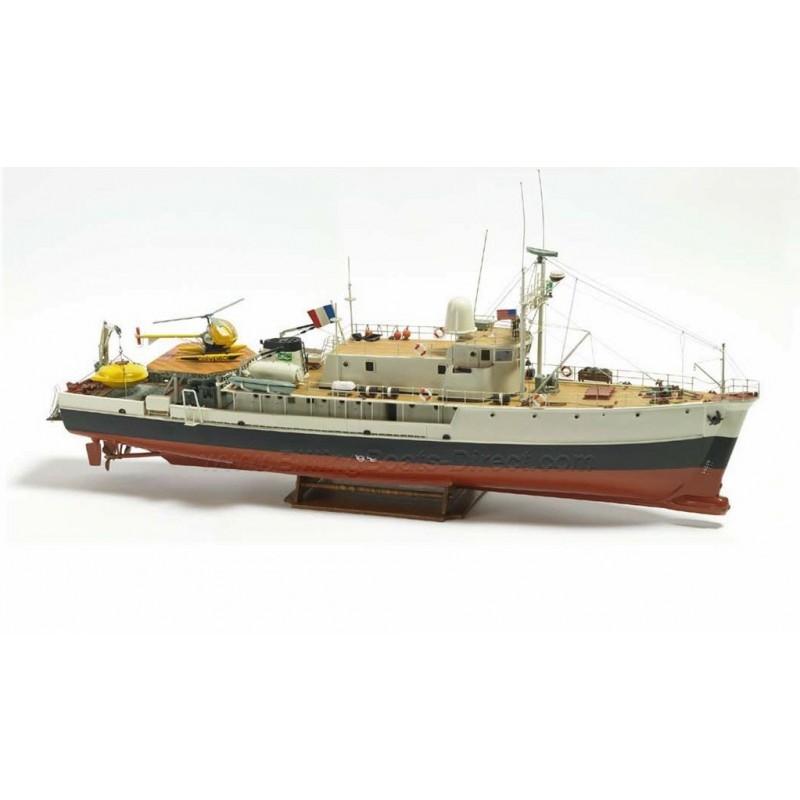 1/45 CALYPSO (Length 940mm) OCEAN RESEARCH VESSEL (J. Y. COUSTEAU) ΞΥΛΙΝΑ ΠΛΟΙΑ