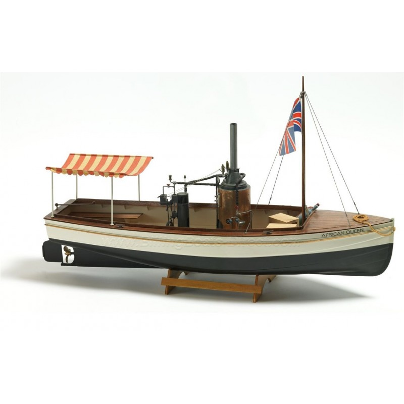 1/12 AFRICAN QUEEN  (Length 740mm) STEAMBOAT ΞΥΛΙΝΑ ΠΛΟΙΑ