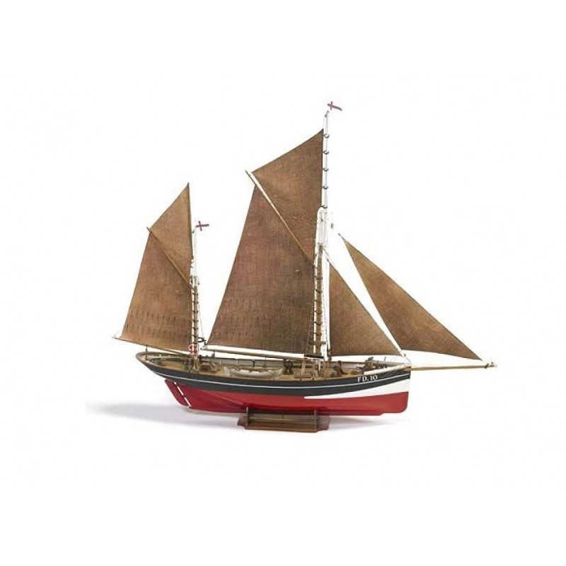 1/50 FD 10 YAWL (Length 700mm) DANISH SEINER FISHING BOAT ΞΥΛΙΝΑ ΠΛΟΙΑ