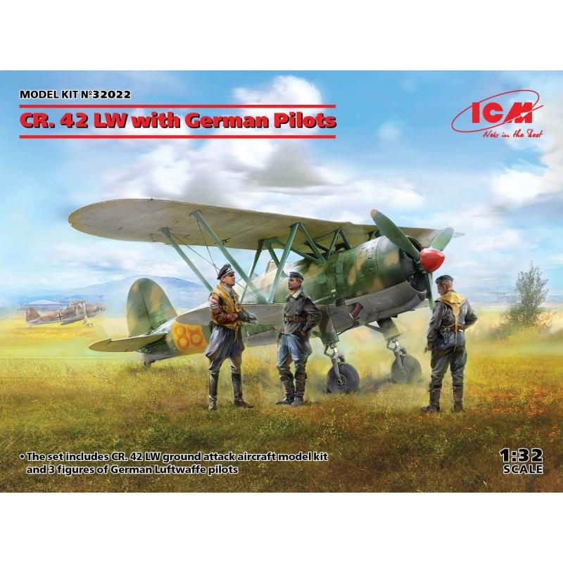 1/32 CR. 42 LW with German Pilots ΑΕΡΟΠΛΑΝΑ