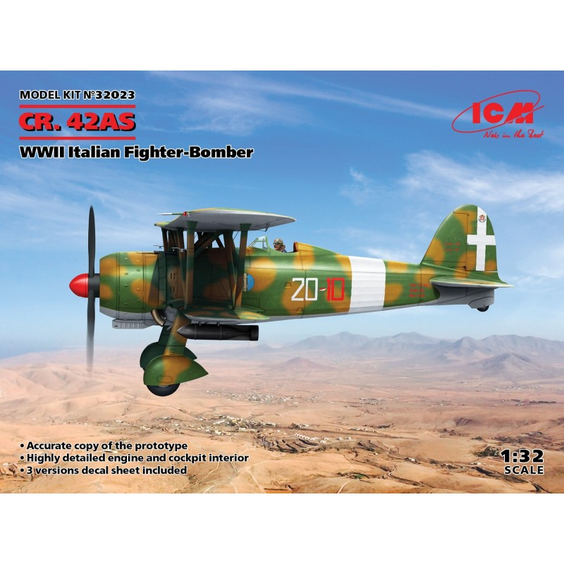 1/32 CR. 42AS WWII Italian Fighter-Bomber ΑΕΡΟΠΛΑΝΑ