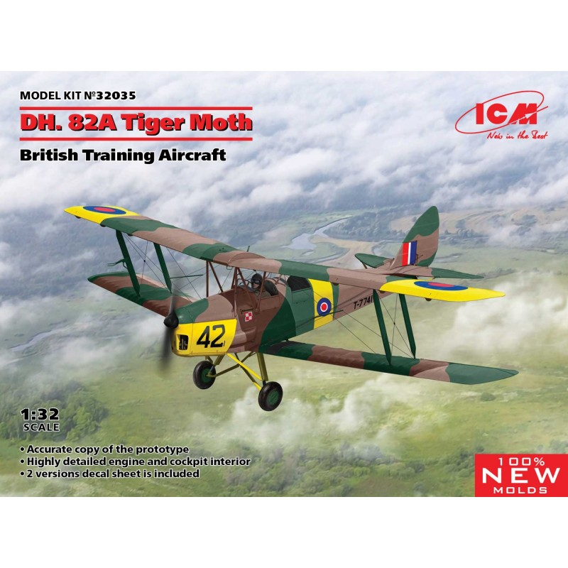 1/32 D.H. 82A Tiger Moth British Training Aircraft ΑΕΡΟΠΛΑΝΑ
