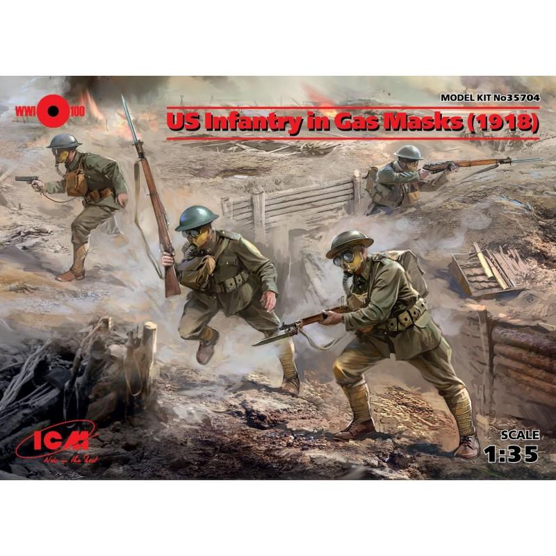 1/35 US Infantry in Gas Masks (1918) (4 figures) ΦΙΓΟΥΡΕΣ
