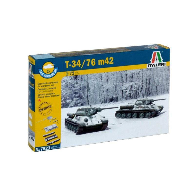 1/72 T-34/76 m42 ΣΤΡΑΤΙΩΤΙΚΑ ΟΧΗΜΑΤΑ - ΟΠΛΑ - ΑΞΕΣΟΥΑΡ