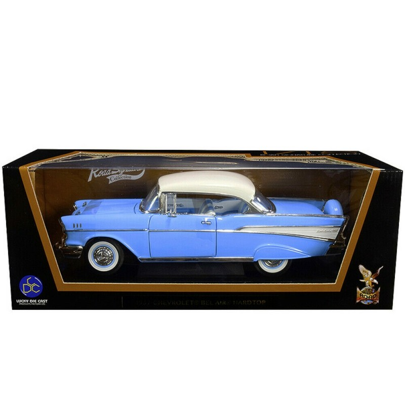 1/18 CHEVROLET BEL AIR HARDTOP LIGHT BLUE with WHITE ROOF 1957 ΑΥΤΟΚΙΝΗΤΑ
