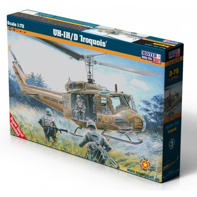1/72 BELL UH-1 H/D ''IROQUOIS'' U.S. ARMY HELICOPTER ΕΛΙΚΟΠΤΕΡΑ