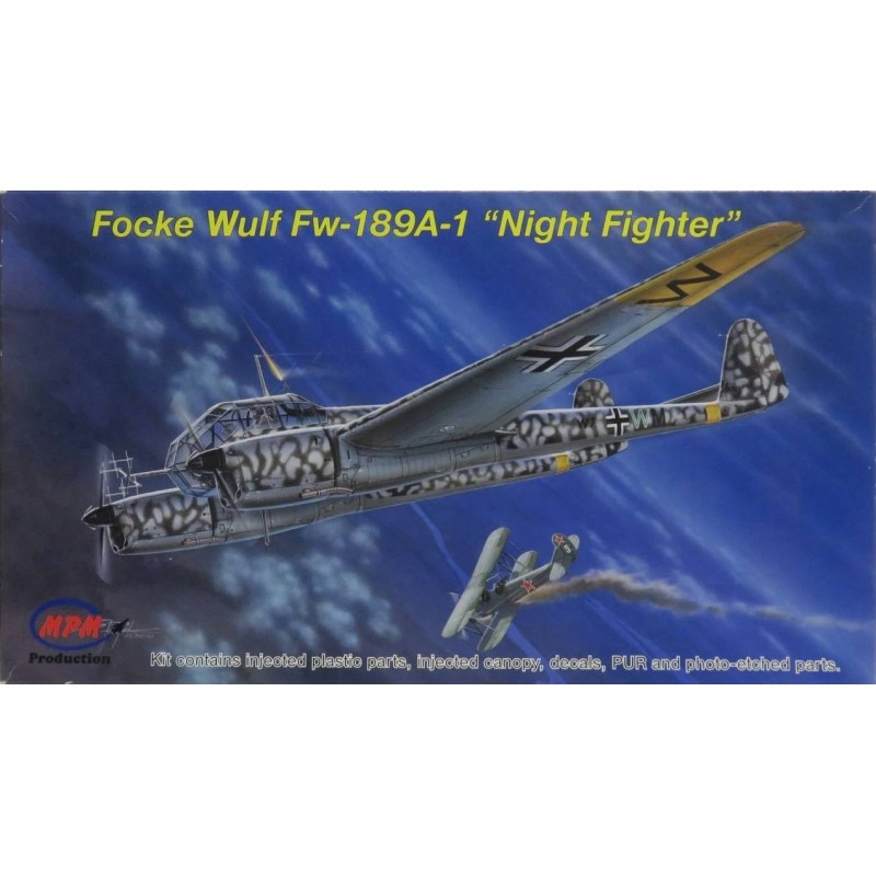 1/72 FOCKE WULF Fw-189A-1 ''Night Fighter'' (with Resin & Photo-Etched Parts) ΑΕΡΟΠΛΑΝΑ