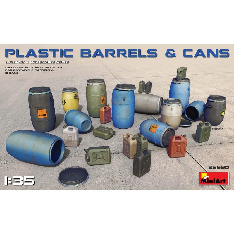 1/35 PLASTIC BARRELS & CANS (12 Barrels & 12 Cans) ΑΞΕΣΟΥΑΡ ΔΙΟΡΑΜΑΤΩΝ