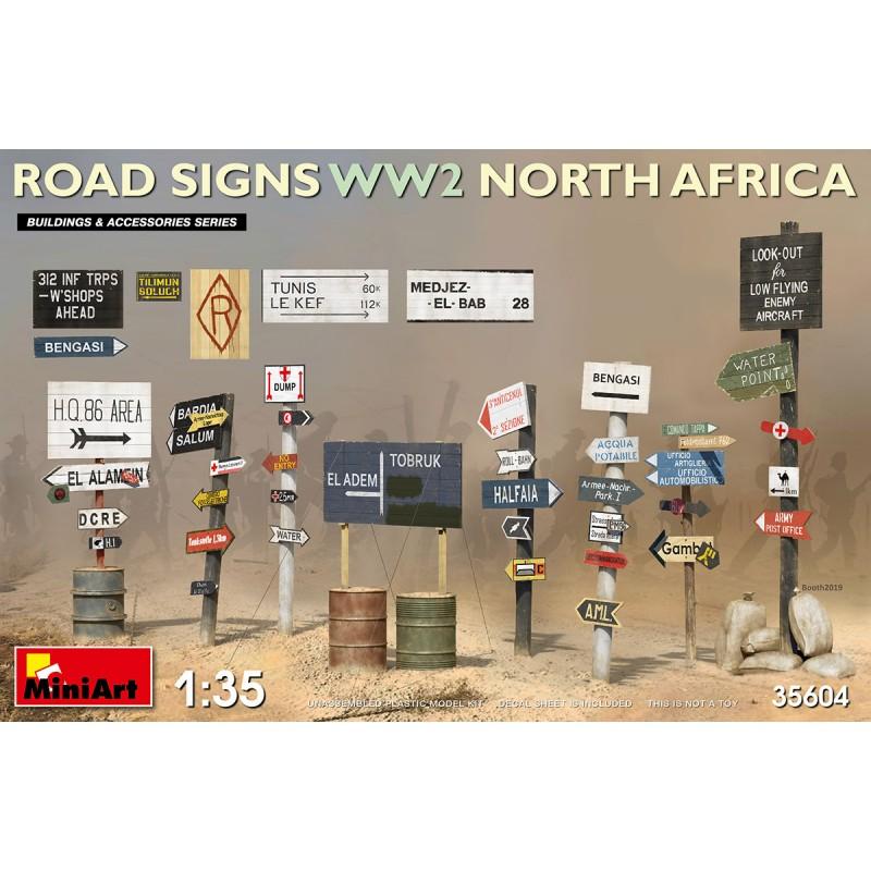 1/35 ROAD SIGNS WW2 NORTH AFRICA ΑΞΕΣΟΥΑΡ ΔΙΟΡΑΜΑΤΩΝ