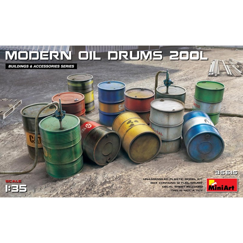 1/35 MODERN OIL DRUMS 200L ΑΞΕΣΟΥΑΡ ΔΙΟΡΑΜΑΤΩΝ