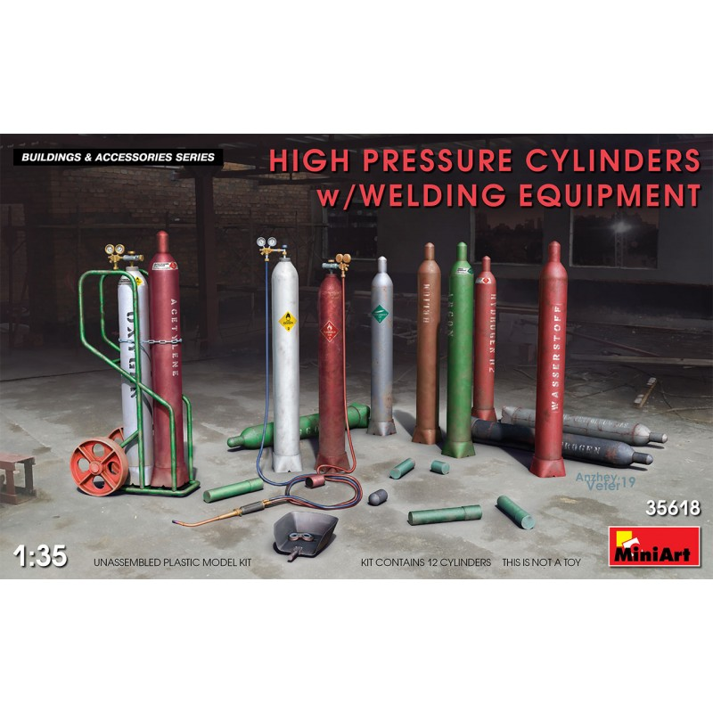 1/35 HIGH PRESSURE CYLINDERS w/WELDING EQUIPMENT ΑΞΕΣΟΥΑΡ ΔΙΟΡΑΜΑΤΩΝ