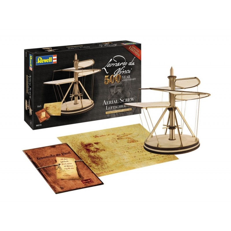 AERIAL SCREW (Leonardo Da Vinci 500 Year Anniversary) WOODEN MODEL ΔΙΑΦΟΡΑ KITS