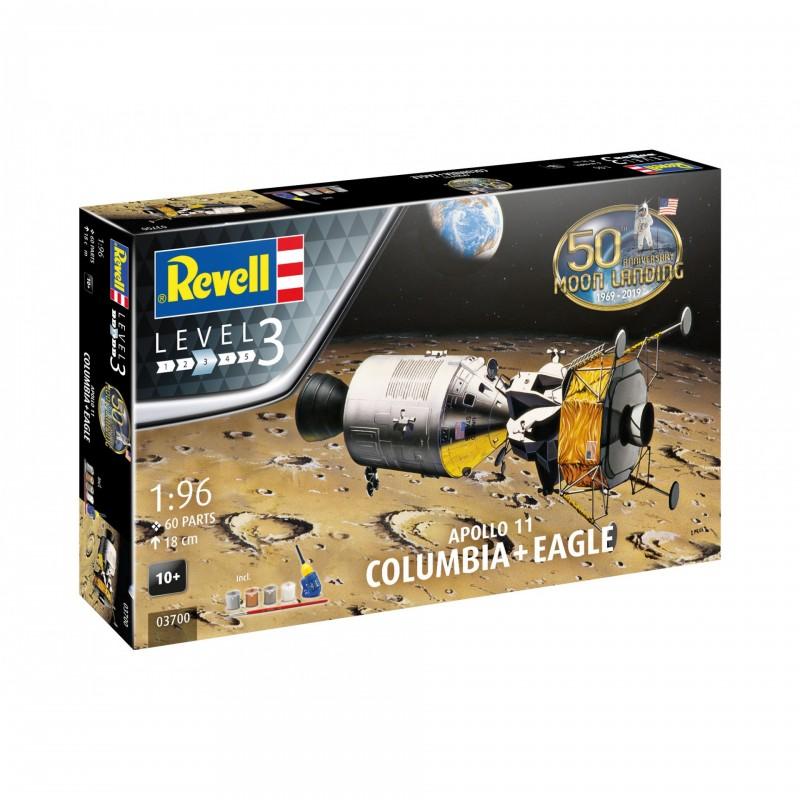 1/96 APOLLO 11 COLUMBIA + EAGLE (50th Anniversary of the Moon Landing) (incl. 4 paints, 1 paint brush, 1 needle glue) ΔΙΑΣΤΗΜΙΚΑ KITS