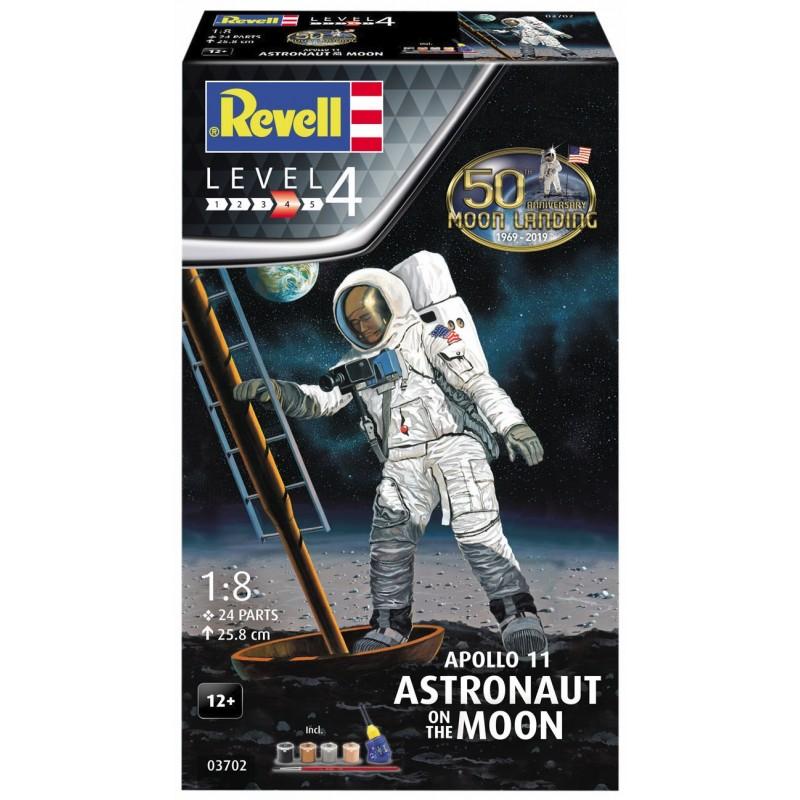 1/8 APOLLO 11 ASTRONAUT ON THE MOON (50th Anniversary of the Moon Landing) (incl. 4 paints, 1 paint brush, 1 needle glue) ΔΙΑΣΤΗΜΙΚΑ KITS