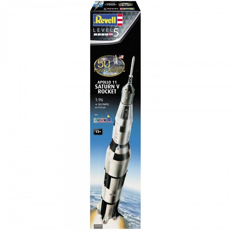 1/96 APOLLO 11 SATURN V ROCKET (50th Anniversary of the Moon Landing) (incl. 4 paints, 1 paint brush, 1 needle glue) ΔΙΑΣΤΗΜΙΚΑ KITS