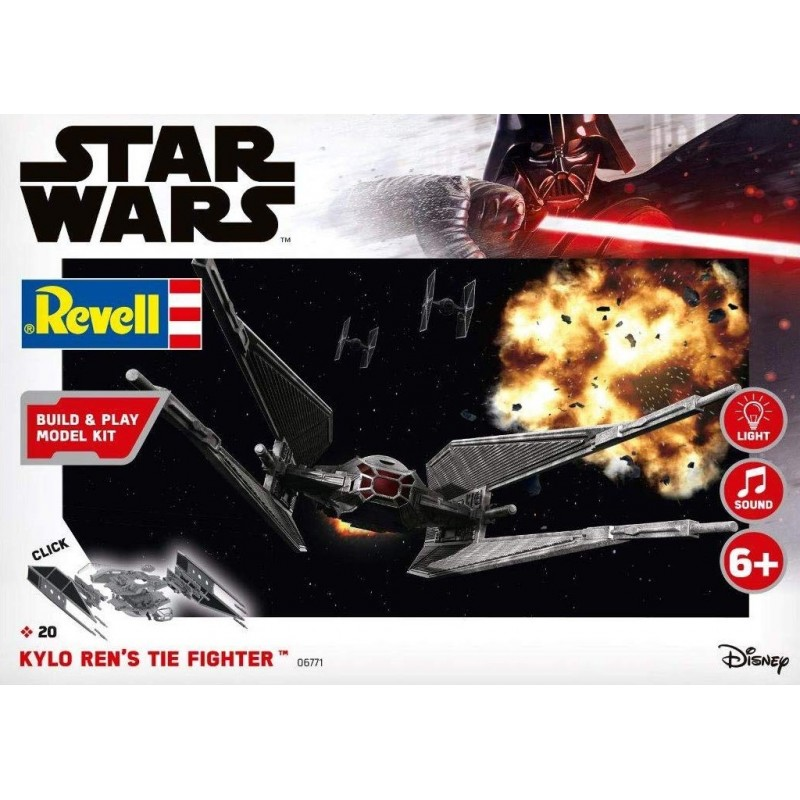 STAR WARS KYLO RENS 'S TIE FIGHTER EASY KIT (LIGHT & SOUND) STAR WARS - STAR TREK KITS