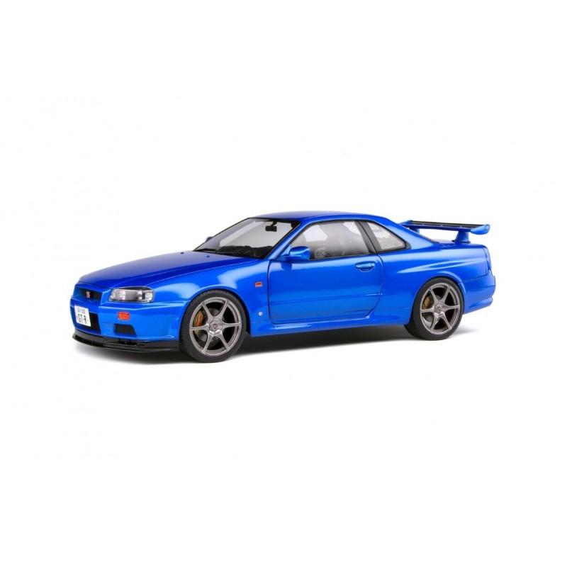 1/18 NISSAN SKYLINE GT-R (R34) BAYSIDE BLUE METALLIC 1999 ΑΥΤΟΚΙΝΗΤΑ