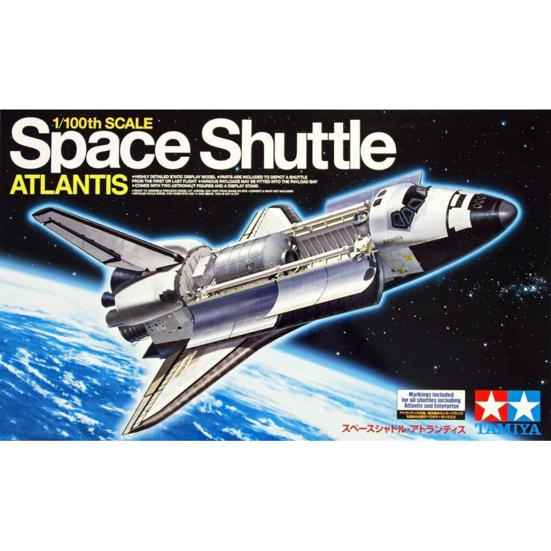 1/100 SPACE SHUTTLE ATLANTIS (decals for all shuttles) w/ 2 Figures & Display Stand ΔΙΑΣΤΗΜΙΚΑ KITS