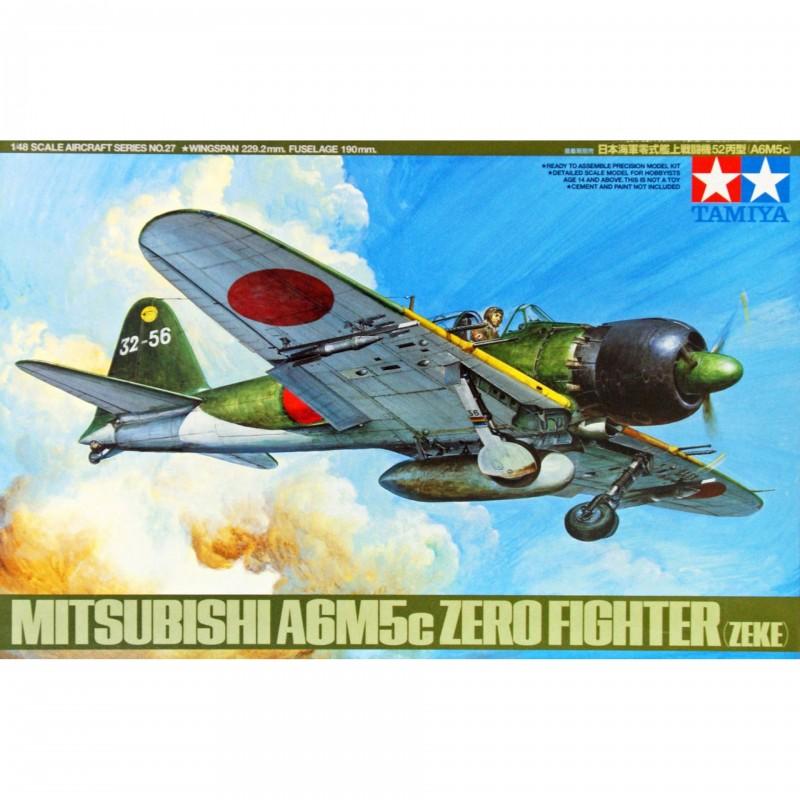 1/48 MITSUBISH A6M5c ZERO FIGHTER MODEL 52 (ZEKE) w/ 7 Figures ΑΕΡΟΠΛΑΝΑ
