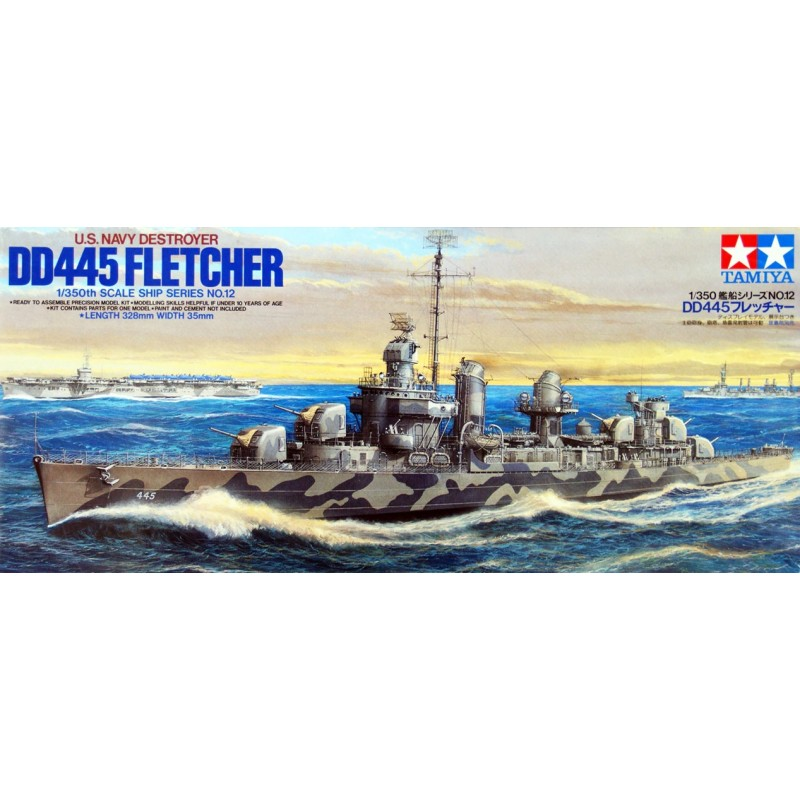 1/350 U.S. NAVY DESTROYER DD-445 FLETCHER ΠΛΟΙΑ