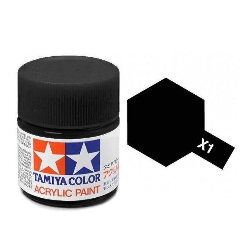 X-1 BLACK - ACRYLIC PAINT MINI (GLOSS) 10ml GLOSS
