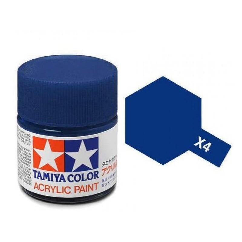 X-4 BLUE - ACRYLIC PAINT MINI (GLOSS) 10ml GLOSS