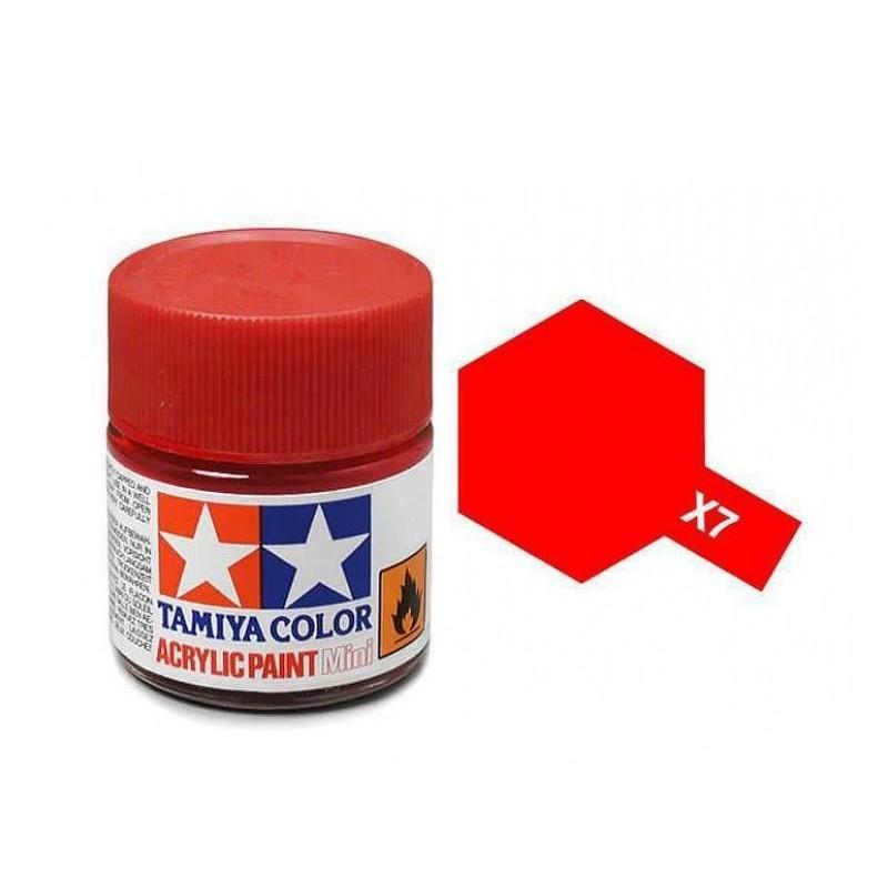 X-7 RED - ACRYLIC PAINT MINI (GLOSS) 10ml GLOSS