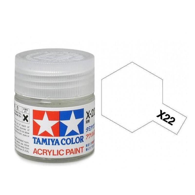 X-22 CLEAR - ACRYLIC PAINT MINI (GLOSS) 10ml ΒΕΡΝΙΚΙΑ