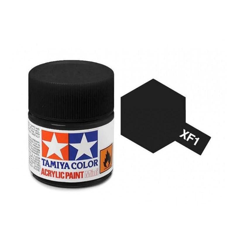 XF-1 BLACK - ACRYLIC PAINT MINI (FLAT) 10ml FLAT