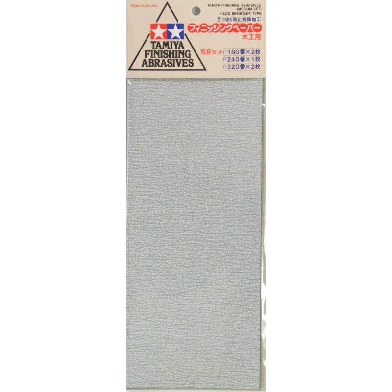 FINISHING ABRASIVES (MEDIUM SET) (P180 x 2pcs, P240 x 1 pc & P320 x 2pcs) ΕΡΓΑΛΕΙΑ