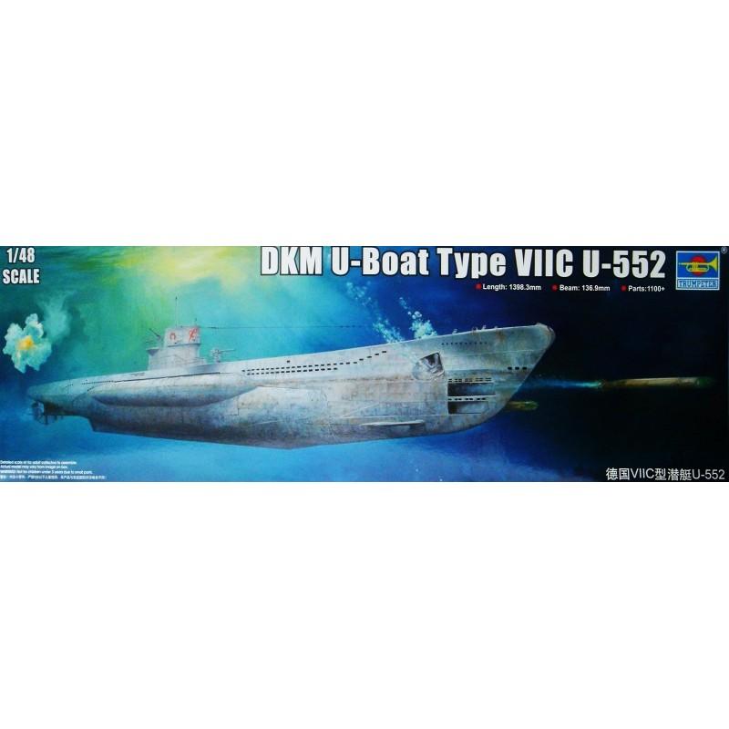 1/48 DKM U-BOAT TYPE VIIC U-552 (Length 1398.3mm Beam 136.9mm) ΥΠΟΒΡΥΧΙΑ