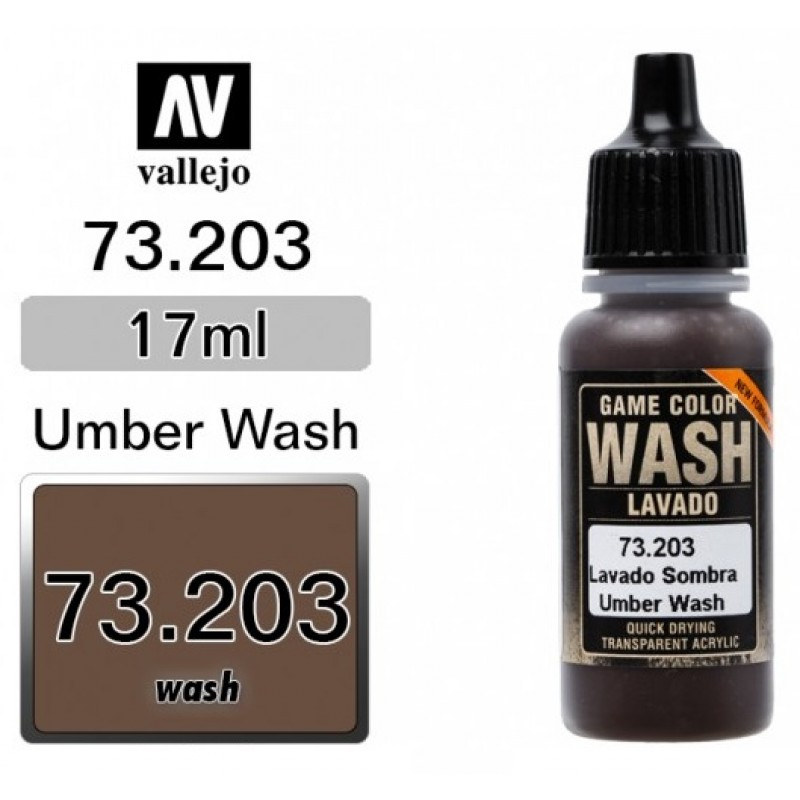 GAME COLOR UMBER (WASH) 17ml VALLEJO ΑΚΡΥΛΙΚΑ GAME COLOR