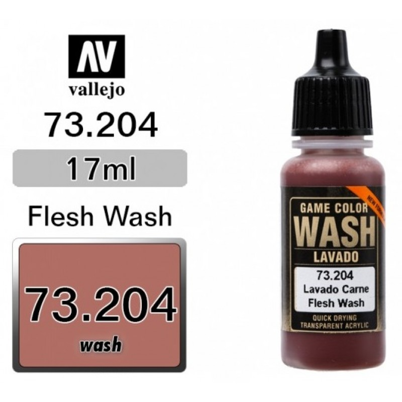 GAME COLOR FLESH (WASH) 17ml VALLEJO ΑΚΡΥΛΙΚΑ GAME COLOR