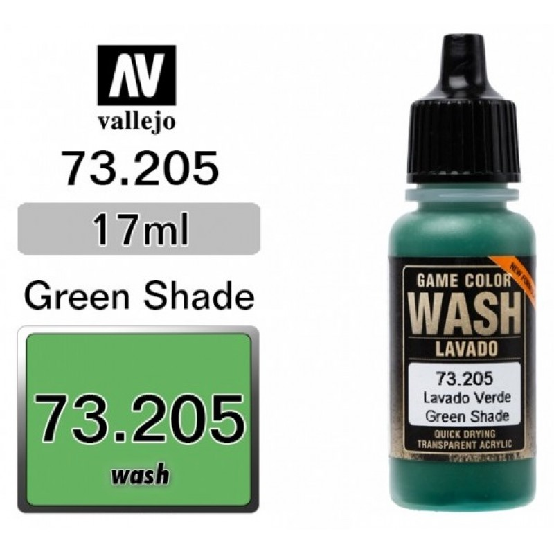 GAME COLOR GREEN (WASH) 17ml VALLEJO ΑΚΡΥΛΙΚΑ GAME COLOR