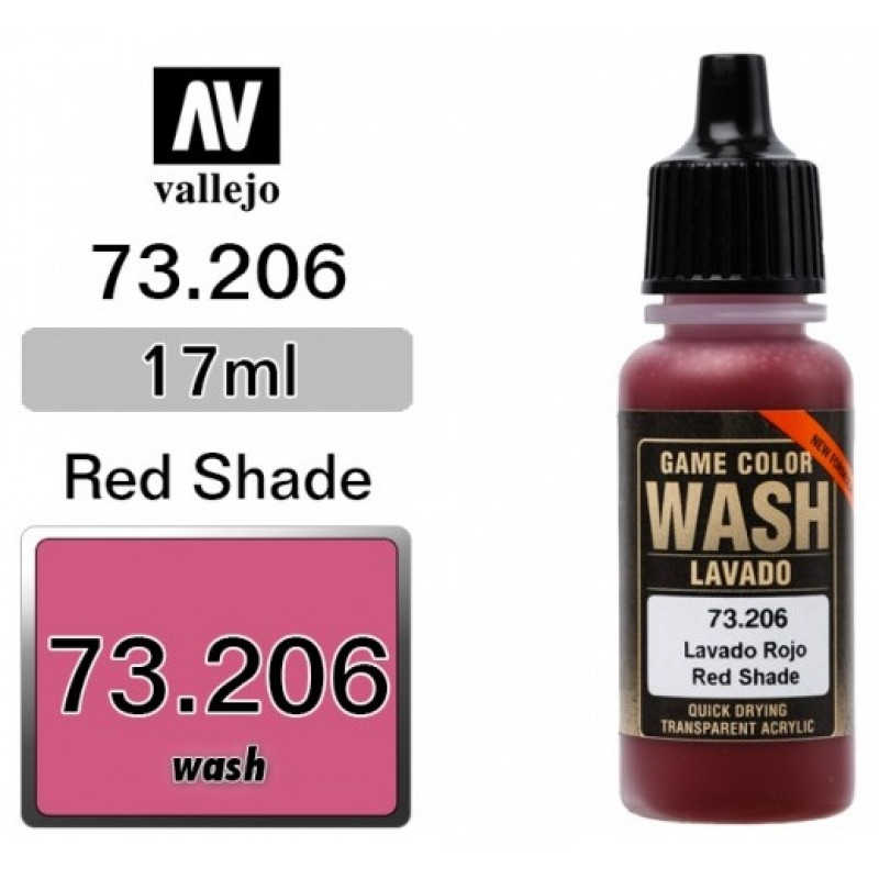 GAME COLOR RED (WASH) 17ml VALLEJO ΑΚΡΥΛΙΚΑ GAME COLOR